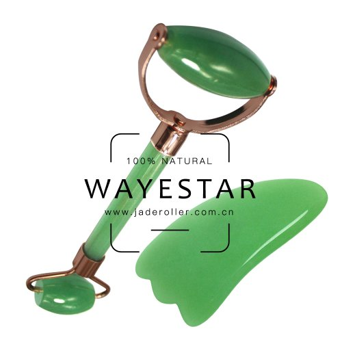 Natural Beauty Chinese Ancient Jade Roller Facial Massager with custom package