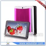 7 inch 3g quad core tablet pc with hot video phone tablet with metal shell